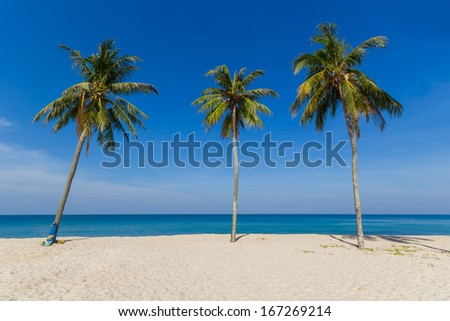 Tropical beach on the island of Phuket in Thailand - stock photo