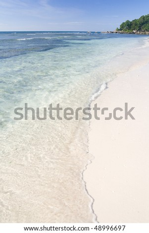 Tropical beach on the Seychelles