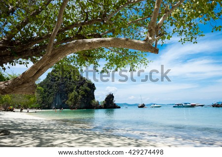 Tropical beach scenery, Andaman sea, View of koh hong island krabi,Thailand