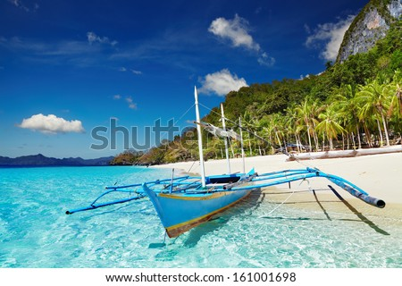 Tropical beach, South China See, El-Nido, Philippines - stock photo