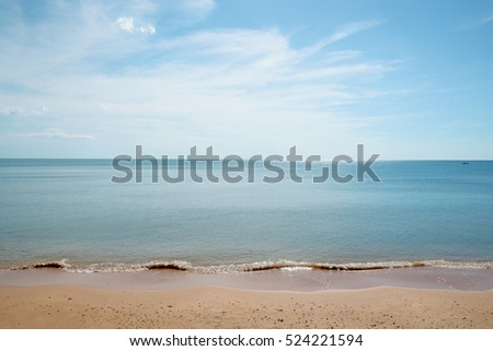 Tropical beach with nice sky