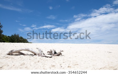 Tropical beach with white fine sand on Bamboo Island, Thailand - stock photo
