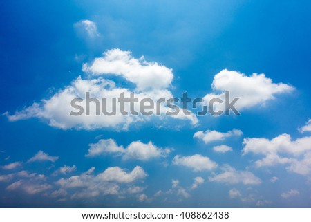 Tropical  Blue Sky Cloud, abstract cloud Background, skyscape - stock photo
