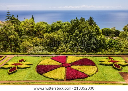Tropical Botanical Gardens in Funchal, Madeira island, Portugal - stock photo