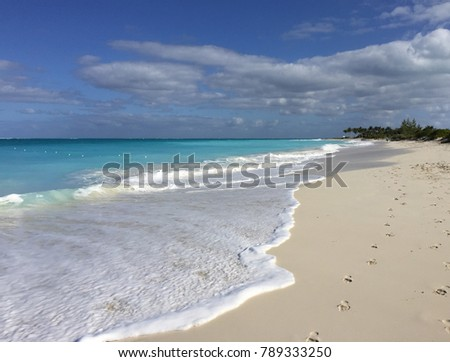Tropical caribbean beach of Turks and Caicos