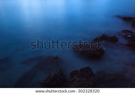 Tropical Dark  Mist Sea  - stock photo