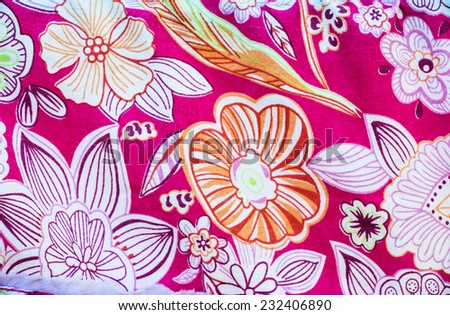 tropical flower,blossom cluster seamless pattern background - stock photo