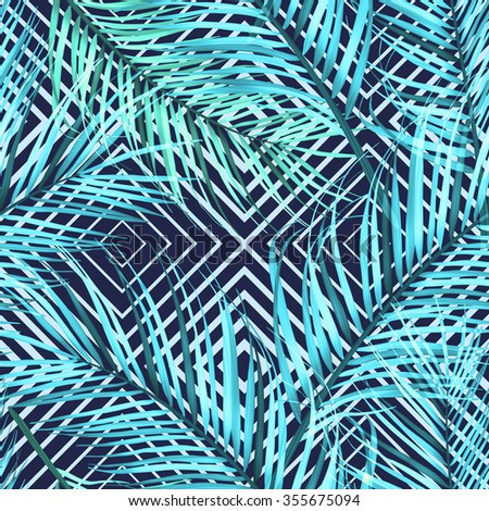 Tropical flower geometry, botanical symmetry background, plant pattern on black. Hawaiian, californian, florida summer style. - stock photo