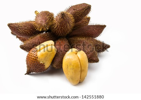 Tropical fruit isolated on white background ,See is all Asian zone