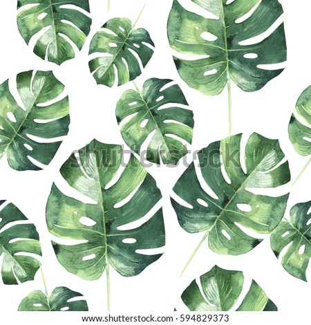 Tropical Leaves Pattern Stock Images, Royalty-Free Images ...