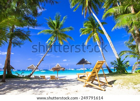 tropical holidays in paradise island - stock photo