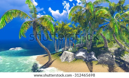 Tropical island - stock photo