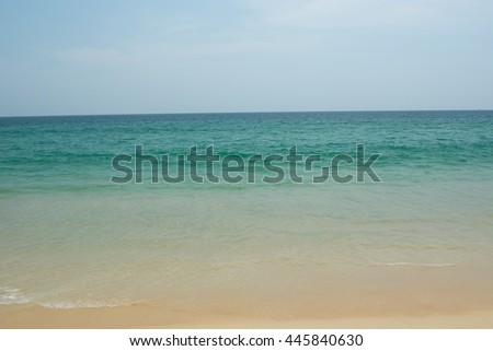 Tropical island beach and sea
