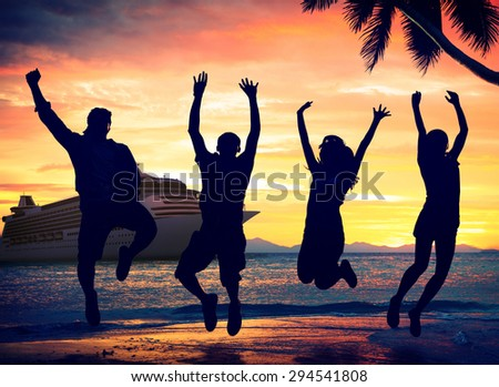 Tropical Island Cruise Vacation Holiday Tourism Concept - stock photo