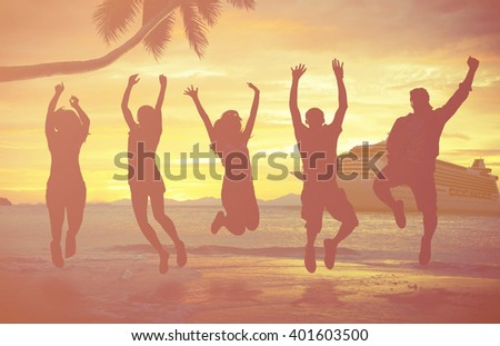Tropical Island Cruise Vacation Holiday Tourism Concept