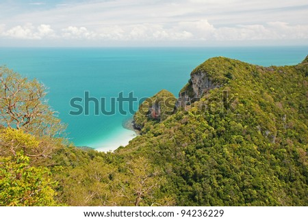 Tropical island in Ang Thong National Park, Thailand