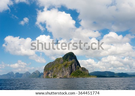 Tropical Island in El Nido, Palawan, The Philippines