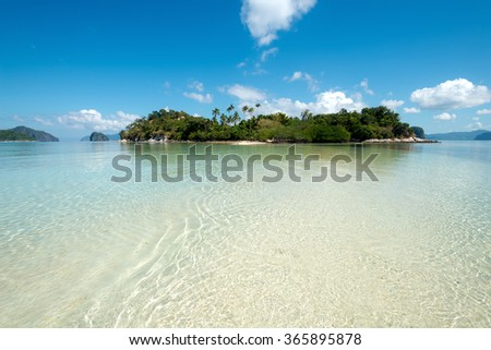 Tropical Island in El Nido, Palawan, The Philippines - stock photo