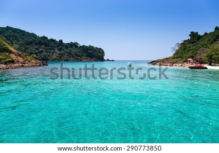 Tropical island in southern Thailand - stock photo