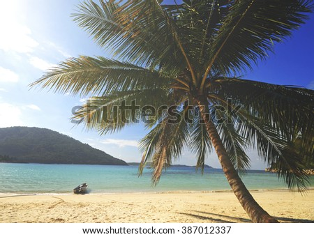Tropical Island Malaysia Traveling Trip Concept