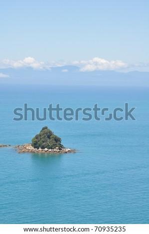 tropical island, New Zealand - stock photo