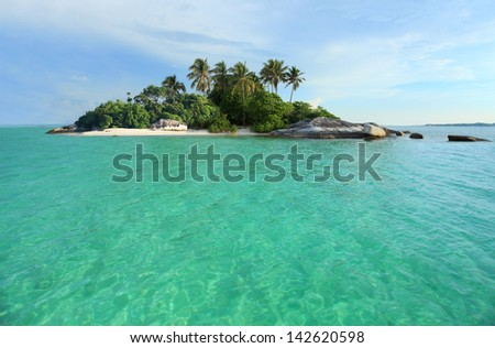 Tropical Island, perfect getaway - stock photo