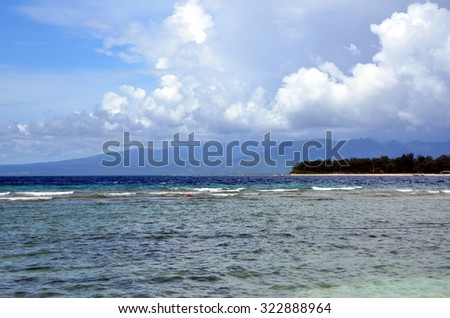 Tropical landscape. View on Gili Meno in Indonesia