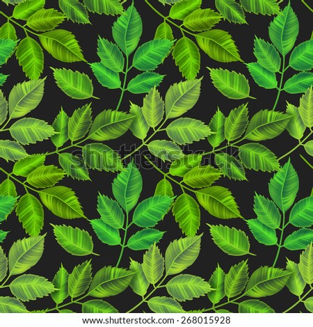 Tropical leaves background. Colorful and stylish seamless fashion floral pattern, in Hawaiian style. - stock photo