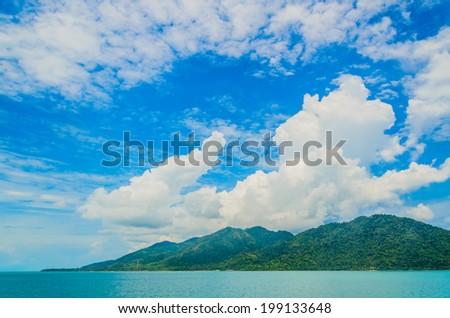 Tropical ocean - stock photo