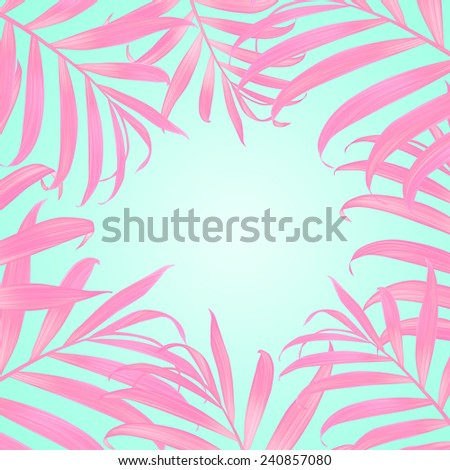 Tropical  palm leaves. stylish fashion floral background, in Hawaiian style. - stock photo