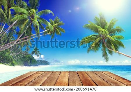 Tropical Paradise Beach - stock photo