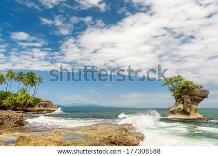 Tropical paradise in Costa Rica, Manzanillo - stock photo