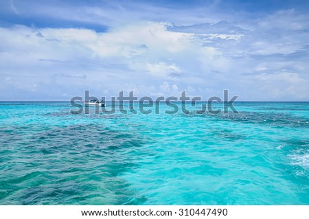 Tropical paradise, Similan islands,Similan Islands Sea's most beautiful white sand beaches for relaxing summer and diving underwater beautiful as anywhere in the world.Thailand - stock photo