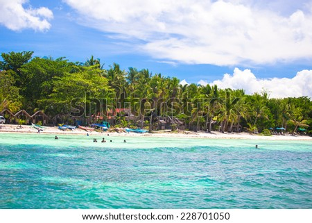 Tropical perfect island Puntod in Philippines