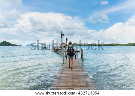 Tropical Pier - stock photo