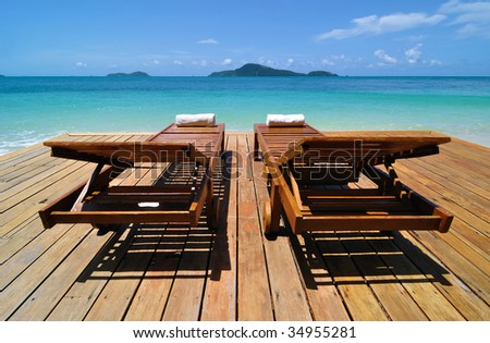 Tropical Resort Deckchairs