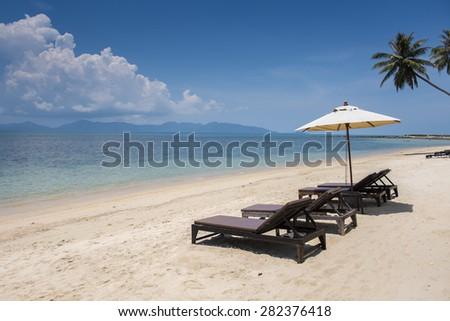 Tropical resort  in Koh Samui, Thailand - stock photo