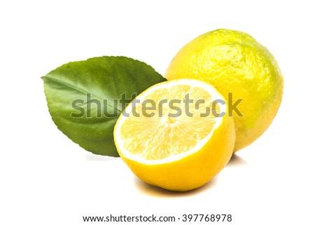 tropical ripe fragrant lemons - stock photo
