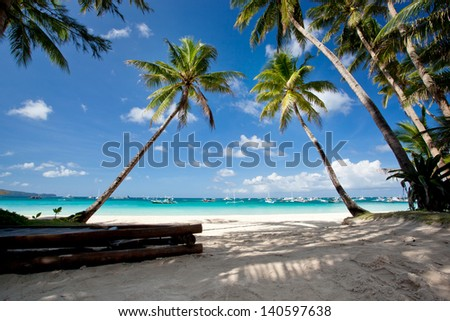Tropical scene, Philippines - stock photo