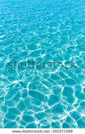 Tropical sea water texture reflections like paradise summer vacation - stock photo