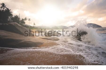 Tropical Seas Summer Travel Beach Concept - stock photo