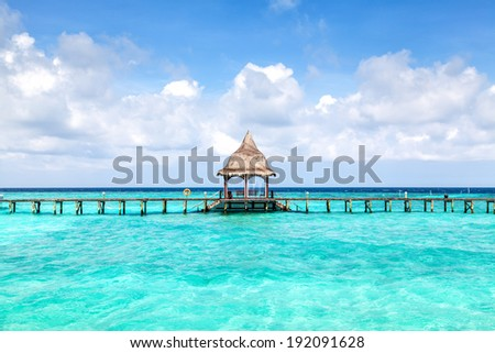Tropical seascape with turquoise lagoon