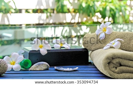tropical spa on nature background - stock photo