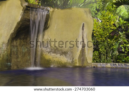 Tropical Spa with waterfall - La Fortuna, Alajuela province, Costa Rica - stock photo