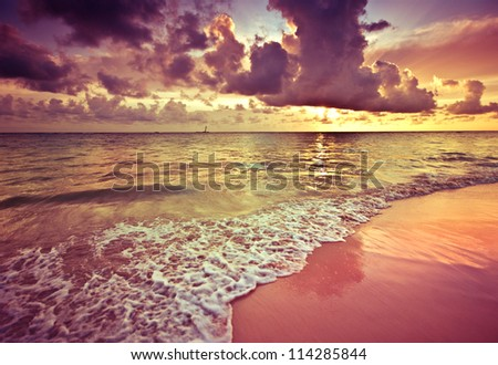 Tropical sunrise - stock photo