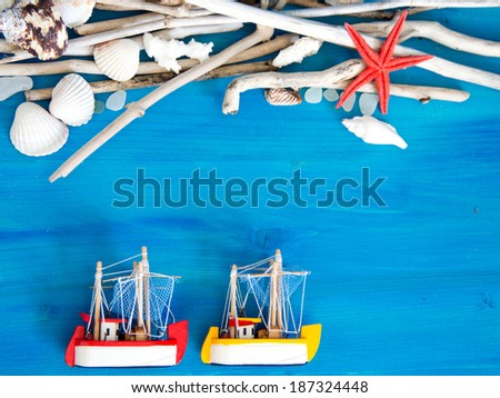 Tropical travel background  - stock photo