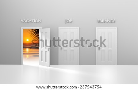 Tropical vacation escape from one's daily job and errands - stock photo