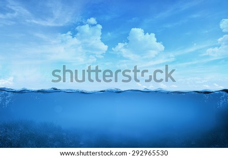 tropical water - stock photo