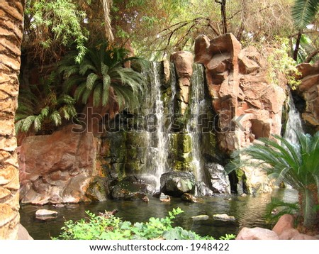 Tropical Waterfall - stock photo