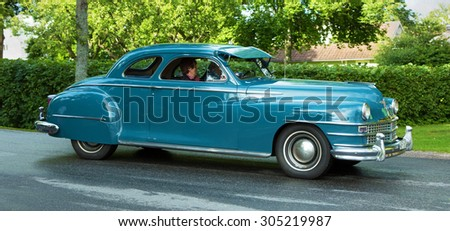 TROSA SWEDEN, 16 JULY 2015. CHRYSLER WINDSOR COUPE; 1947